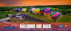 One of the most popular events in the Texas Hill Country returns to Horseshoe Bay Resort April 14-16. Balloons over Horseshoe Bay Resort is the region's only annual hot air balloon festival. Each year, thousands of balloon enthusiasts from across Texas arrive to watch hot air balloons glow and ascend over the Hill Country terrain.