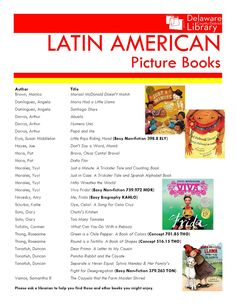 Latin American Picture Books | Delaware County District Library