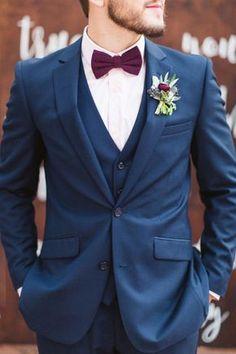 9 combinações e cores de gravata borboleta para noivo - Constance Zahn | Casamentos