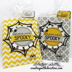 Creating with Christine: Halloween Treat Bags! Halloween Treat Bags, Halloween Cards, Paper Crafts, Joy, Projects, Log Projects, Blue Prints, Tissue Paper Crafts, Paper Craft Work