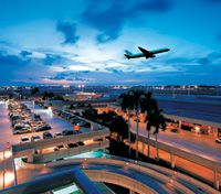 Fort Lauderdale/Hollywood International Airport.  FLL is only 5 minutes to the beach or downtown. http://sunny.org/airport