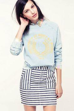 aebbb613e4 striped miniskirt from Madewell Oxford White