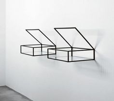transparent bookshelves with minimalist design