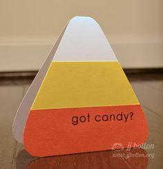 Reverse Confetti   Spooky Sentiments   Halloween Card, Candy Corn