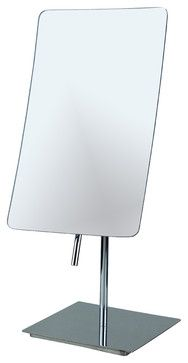 Curved Tabletop Mirror w/ 3x Magnification - contemporary - Bathroom Mirrors - Macral Design Corp