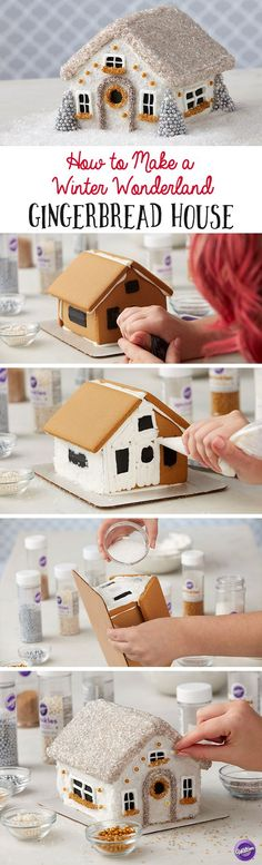 How to Make a Winter Wonderland Gingerbread House - Bring the magic and beauty of winter inside with this whimsical Winter Wonderland Gingerbread House