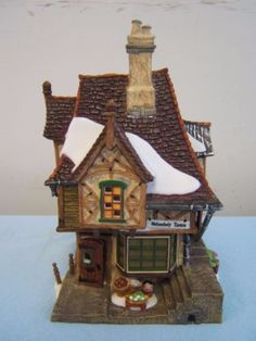 56 Dickens Village Melancholy Tavern 58703 in Box Retired Dept 56 Dickens Village, Villas, Christmas Villages, Winter Cards, Melancholy, Porcelain, Department 56, Building, Fairies