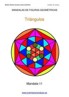 Trabajamos la atención con Mandalas con figuras geométricas Triángulos