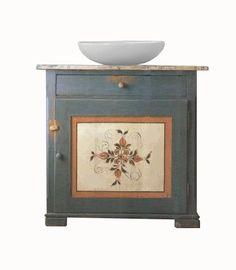 Designer makers of Painted Austrian Tirolean vanity unit & bathroom Folk furniture & interiors Alpine Furniture, Country Furniture, Vanity Units, Next At Home, Folk Art, The Unit, Cabin, Interiors, Colour