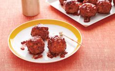 Cherry-Glazed Turkey Cocktail Meatballs ~ The poultry-friendly flavor ...
