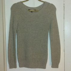 Waffle knit sweater Warm, tan waffle knit sweater! Worn once. Size small. Listed brandy for views. Brandy Melville Sweaters Crew & Scoop Necks