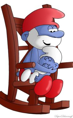 Papa Smurf And Baby Smurf by *SuperSmurgger on deviantART