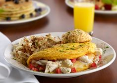 Maryland Omelet -- Jumbo Lump Crab Meat, Tomatoes, & Swiss Cheese, dusted with Old Bay
