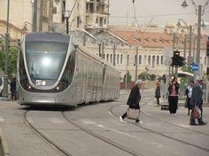 The light train at Jaffa Street, Jerusalem