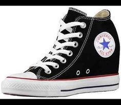 f1278621737 Converse All Star Women s Wedge Chuck Taylor Lux Mid Black White