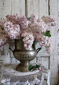 Lilacs and pewter