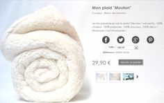 Plaid tout doux  http://www.monplaid.fr/169-mon-plaid-mouton-naturel-lin.html Dispo aussi chez Super U ou tout autre magasin