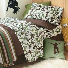 Skateboard Bedding 3pc Full/Queen Quilt Set Bedspread Extreme Sports Blue  Orange Green | Sports Bedding For Boys | Pinterest | Skate Boy, Blue Orange  And ...