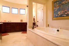 Make your bathtub the focal point in a bathroom with a canopy-like structure.