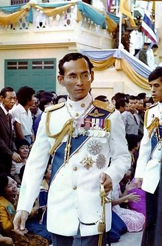 H.M. The King and Crown Prince Vajiralongkorn. Her Majesty, Queen Sirikit with His Majesty, King Bhumibol Adulyadej of Thailand, Rama IX, the King of Thailand and the Kingdom of Siam. https://islandinfokohsamui.com/