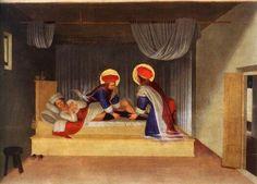 Beato Angelico,La guarigione di Giustiniano da San Cosma e San Damiano, 1438-1440, tempera su tavola, 37 x 45 cm (Museo di San Marco, Firenze)