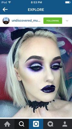 8b8f6f500f814 Nu Goth Makeup, Gothic Makeup, Makeup Geek, Makeup Art, Makeup Inspo,