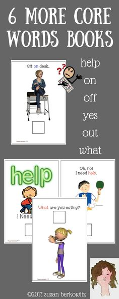 AAC Core Words Interactive Books Help On Off Yes Out What for speech therapy Speech Therapy Games, Speech Language Pathology, Speech And Language, Interactive Books, Vocabulary, Core, Literacy, Therapy Ideas, Asd