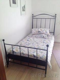 Kovová postel 100x200 s roštem - Jablonec nad Nisou, prodám