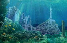 Numenor under the waves by CosmicHawk.deviantart.com on @deviantART