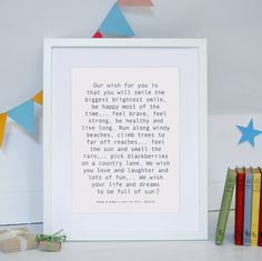 personalised baby wish print by modo creative | notonthehighstreet.com