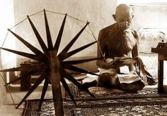 Mahatma Gandhi Changed The World. His life was about compassion and change, through nonviolent activism. And through his life and his work. Gandhi Changed the World. Change The World, Margaret Bourke White, India Independence, Arms Race, Revolutionaries, Belle Photo, Pictures, Spinning, Spirituality