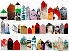mano's world: row houses, Collages, Collage Kunst, Collage Art, Art And Illustration, Magazine Crafts, Art Plastique, Abstract Watercolor, Art Sketchbook, Art Education