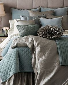 The modern bedroom color schemes provide an enormous palette that permits you to choose relying on the texture you wish to create. When you've got been laying aside getting your bedroom painted for a while now, it is time to… Continue Reading → Blue Bedroom, Dream Bedroom, Home Decor Bedroom, Modern Bedroom, Master Bedroom, Bedroom Ideas, Pretty Bedroom, Bedroom Inspiration, Girls Bedroom