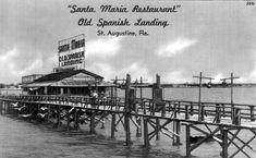 Florida Memory - Santa Maria Restaurant, Old Spanish Landing, St. Augustine, Florida.