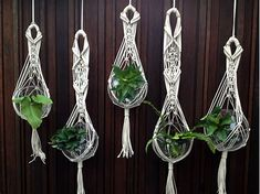 Image result for Free Macrame Patterns Plant Hangers