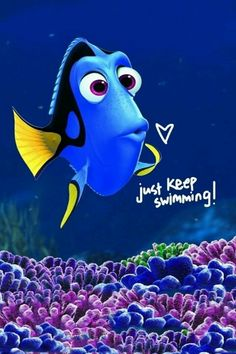 """For Talia  <3 When Ellen asked her how she stays (stayed) positive she sweetly said """"Well a little fishy told me to just keep swimming."""" (DeGeneres was the voice of Dori.)"""