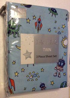 Space Astronaut Twin Sheet Set Luke and Lola Bedding Linens    eBay
