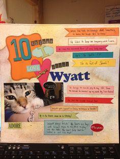 cat scrapbook page