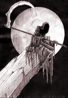 Animated Smoldering Grim Reaper | gothicvampyre91 [ at ] Vampirefreaks.com