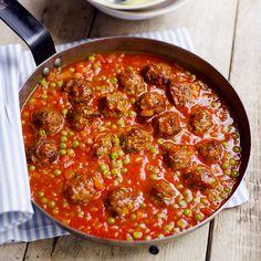 Gehaktballetjes in tomaten-erwtensaus Recept   Weight Watchers België