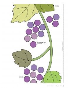 Grape Escape  Beautiful, juicy Concord grapes on grapevines signal summer!@  Here are the applique patterns used in THE GRAPE ESCAPE. This grape wreath applique quilt was designed by Alex Anderson and appeared in The Quilt Life Magazine....