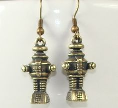 Lost in Space Retro Robot Earrings