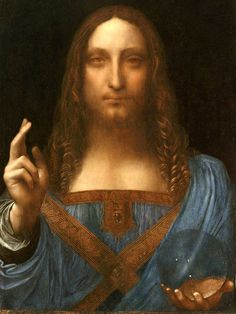 Salvator Mundi is a painting of Christ as Salvator Mundi (Savior of the World) recently attributed to Leonardo da Vinci. In France, Leonardo da Vinci painted the subject, Jesus Christ, for Louis XII of France between 1506 and 1513 Modigliani, Mona Lisa, Rembrandt, Michelangelo, Leonardo Paintings, Most Expensive Painting, Expensive Art, Salvator Mundi, National Gallery