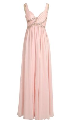Jewelled Pink Bridesmaid Dress