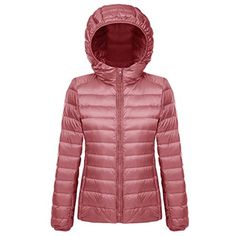 2e561c572 Vcansion Women's Classic Lightweight Packable Coat with Hooded Short Down  Jacket ** Details can be