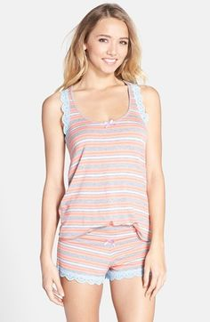 Honeydew Intimates Lace Trim Jersey Shorts Pajamas available at #Nordstrom