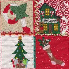 Free Embroidery Design: Crazy Christmas Town