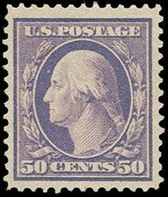 Philasearch.com - United Sates 1908-15 Washington Franklin Issue, Scott 341. 341, 1909 50c Violet, large balanced margins, o.g., 1979 PF and 2013 PSE Graded VF 80J certificates (Scott $300)   Lot condition *  Dealer H.R. Harmer  Auction Opening Bid: 250.00 US$ (app. 185 EUR)