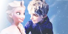 Elsa and Jack Gif - Elsa & Jack Frost Photo (37065381) - Fanpop. Dude you gonna kiss or what???