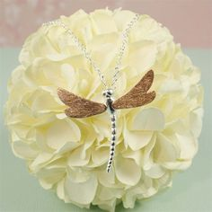 Rose Gold Dragonflies Necklace